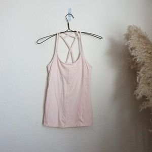 Athleta pink racerback workout tank top